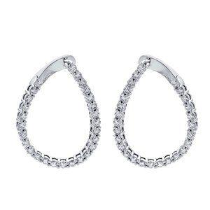 1.85 Carat Diamond Pear Shape Latch Back Earrings
